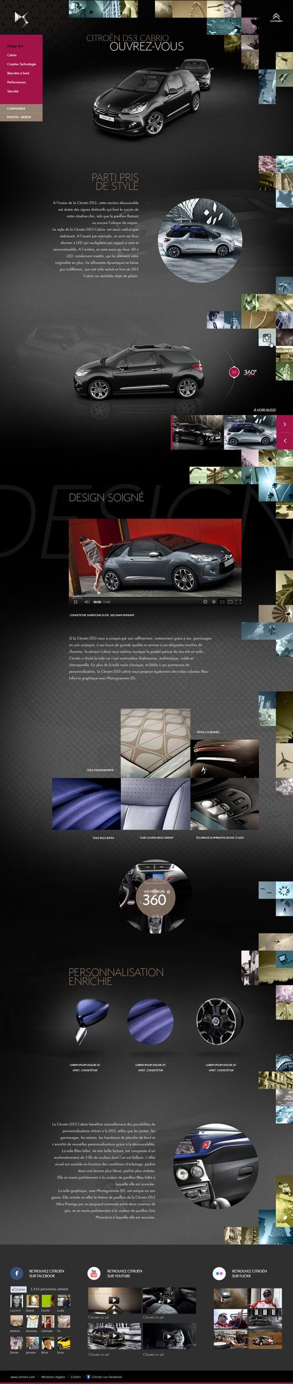 Cool Automotive Web Design on the Internet. Citroen. #automotive #webdesign @ http://www.pinterest.com/alfredchong/automotive-web-design/