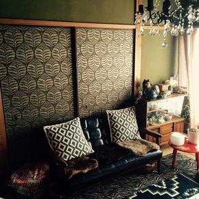 soraarataさんの、砂壁,ふすまに壁紙,ふすまリメイク,壁紙屋本舗,アジアン,レトロ,和室,シャンデリア,古い家,ミックステイスト,部屋全体,のお部屋写真