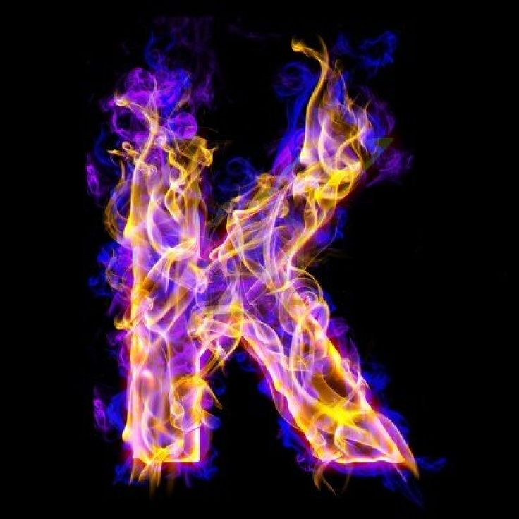 K on fire | Letters | Pinterest | Fonts, Letter k and K on