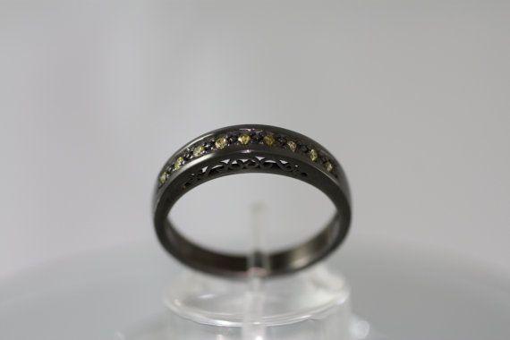 Yellow diamonds  mounted on Sterling Silver  by PetrosJewels