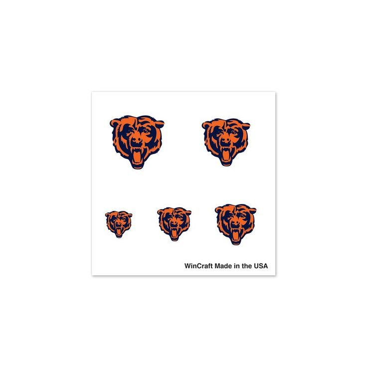 Image of Chicago Bears Official NFL Varying Fingernail Tattoo Set Bears Wincraft 178947