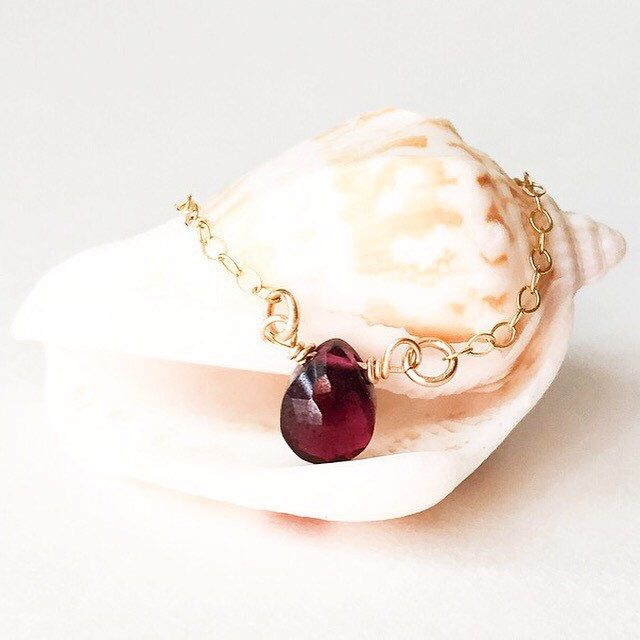 Tiny Garnet Briolette Choker. Perfectly petite!