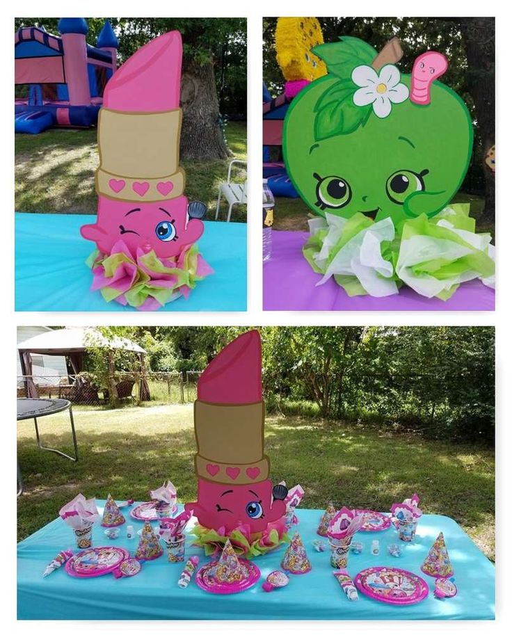 Awesome Shopkins birthday party! See more party ideas at CatchMyParty.com!