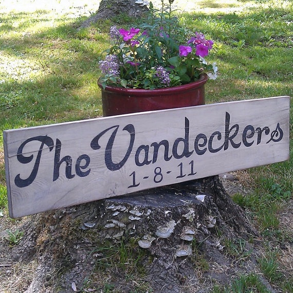 Rustic,  Custom Wooden Sign by RusticCharmDesign on Etsy