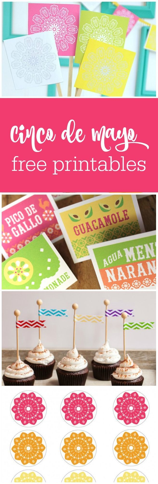 Mexican fiesta party decorating ideas hosting guide - 13 Free Cinco De Mayo Printables Curated By The Party Teacher Http