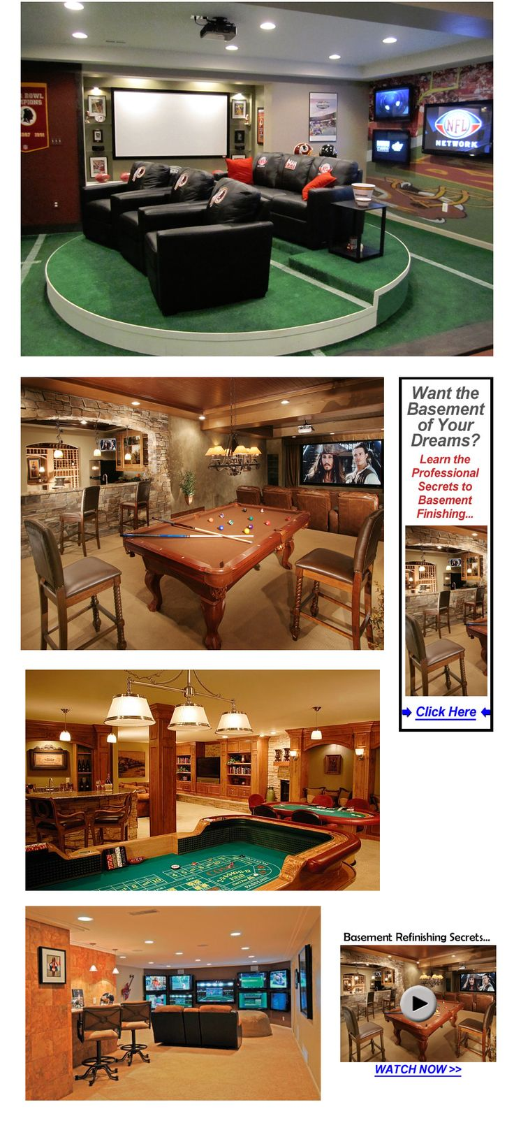 "34 Finished Basement ""Man Cave"" Design Ideas"