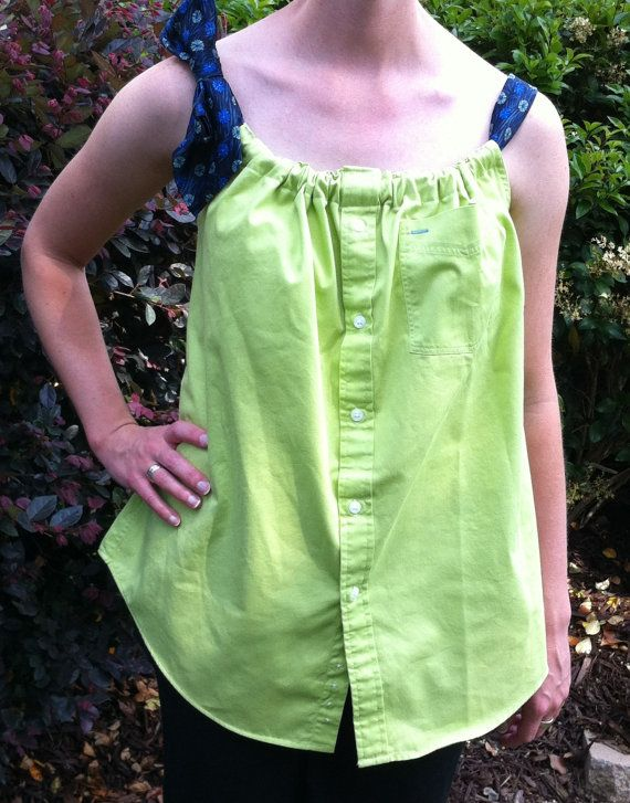 Pillowcase shirt made with a button down shirt. Just a picture.