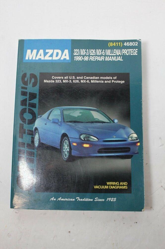 Chilton Repair Manual 46802 MAZDA 1990-98 323 MX-3 626 MX6 Millenia Protege