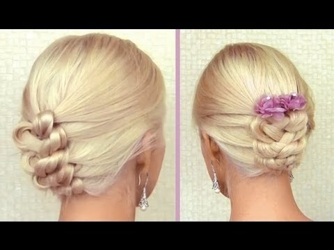 Knotted braid updo for medium long hair - Click image to find more hot Pinterest videos