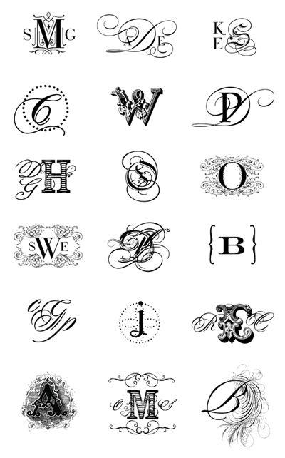 Monogram Crest ...........༺♥༻...........: