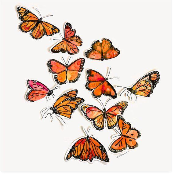 Monarch Butterflies Art Print Of Watercolor Painting Wall Art Etsy Monarch Butterflies Art Butterfly Art Butterfly Art Painting