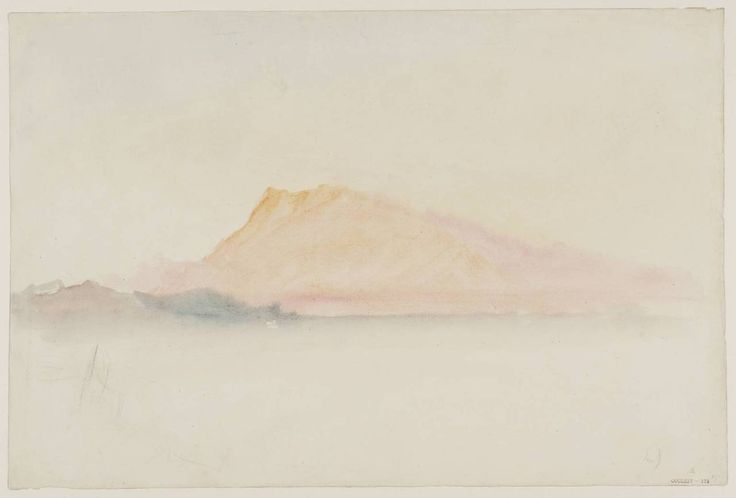 J. M. W Turner The Pink Rigi, 1844. Watercolour...