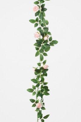 Ros+girlang+med+rosa+rosor+och+blad+att+dekorera+med