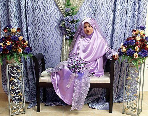 gaun pengantin akhwat :)