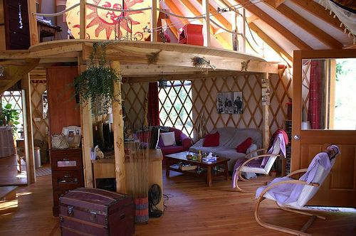 146 best everything yurt images on pinterest yurt interior yurt living and yurts. Black Bedroom Furniture Sets. Home Design Ideas