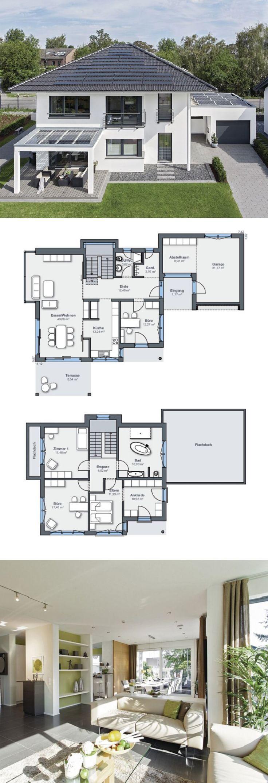 Modernes Design Haus mit Garage & Pergola – Grundriss Einfamilienhaus City Life …  # Fertig