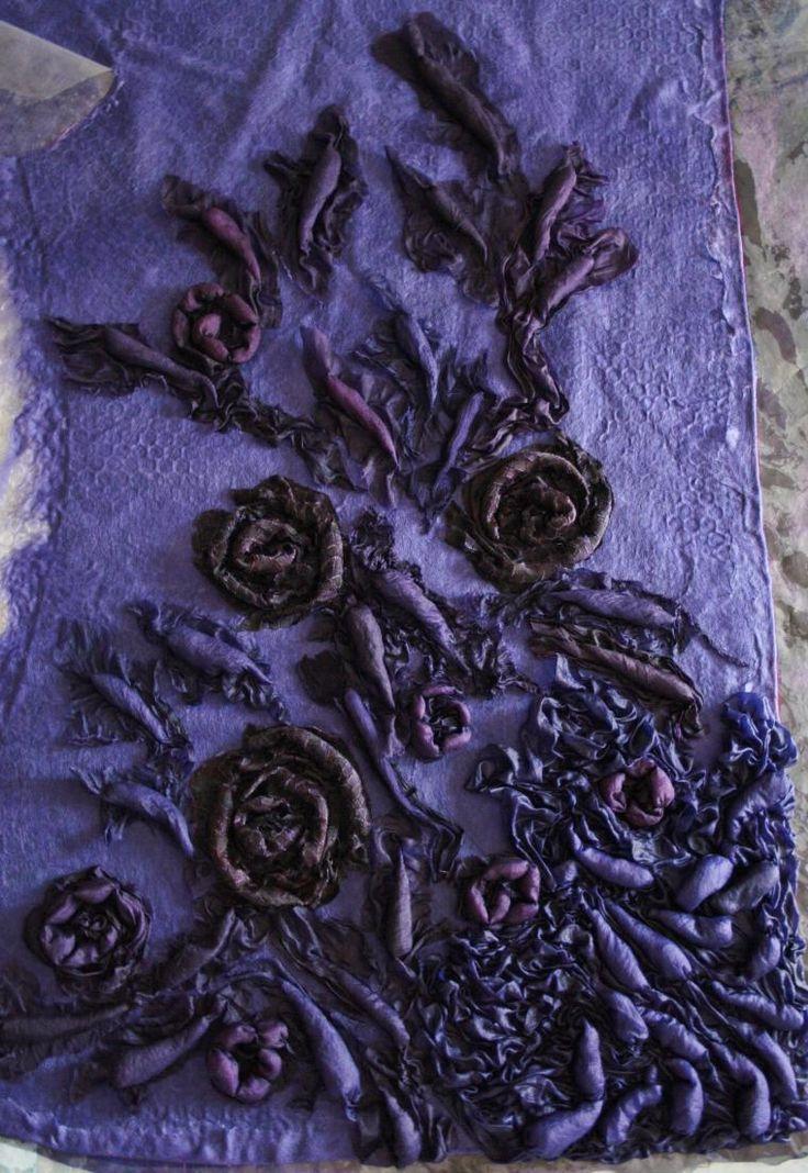 Объемные фактуры: цветы и листочки-капли - Ярмарка Мастеров - ручная работа, handmade