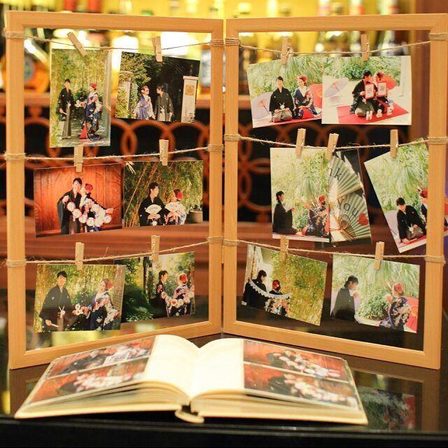 ウェルカムスペースに写真をたくさん飾る方法