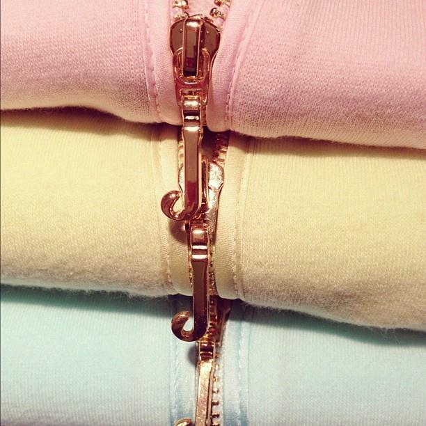 Spring's pink gold J-pulls.