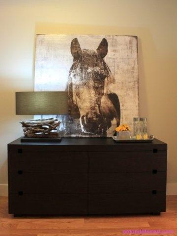 horse art vignette by amanda forrest