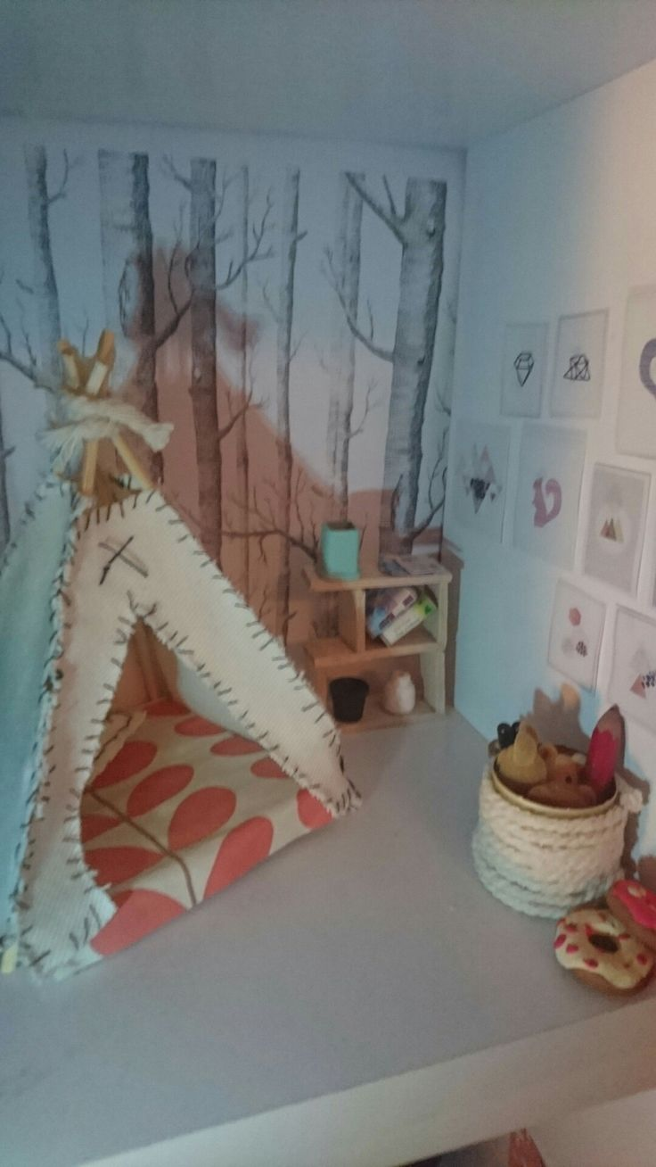 My super easy and super scandi handmade miniature kids bedroom!