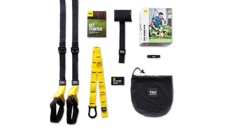 TRX HOME Suspension Trainer gives you everything you need to workout at home - or on the go. Includes workout downloads. #TRX #TRXHomeGym