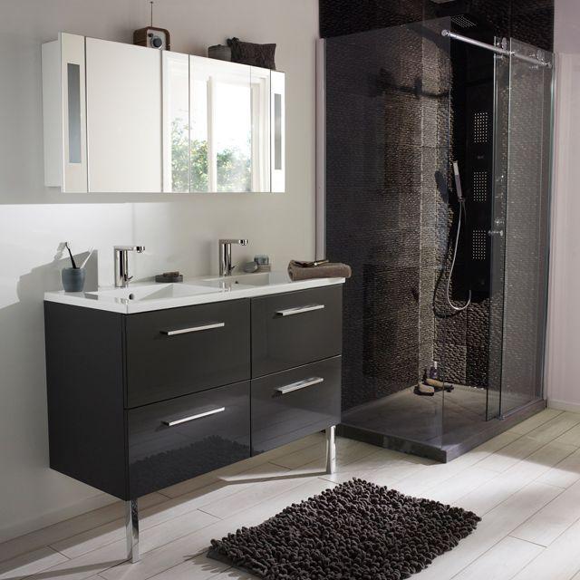 18 best mobilier salle de bain images on pinterest for Meuble 9 cases castorama