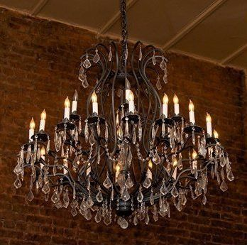 """Wrought Iron Chandelier Crystal Chandeliers Lighting Empress Crystal (Tm) H52"""" W46"""" - A83-3034/18 6"""