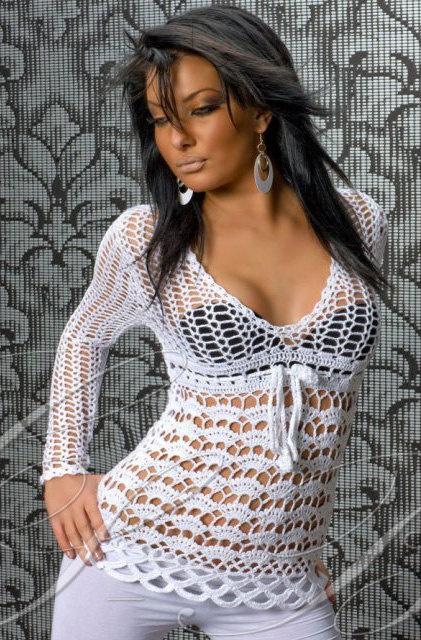 Sexy crochet top pdf pattern by marifu6a on Etsy, $3.99