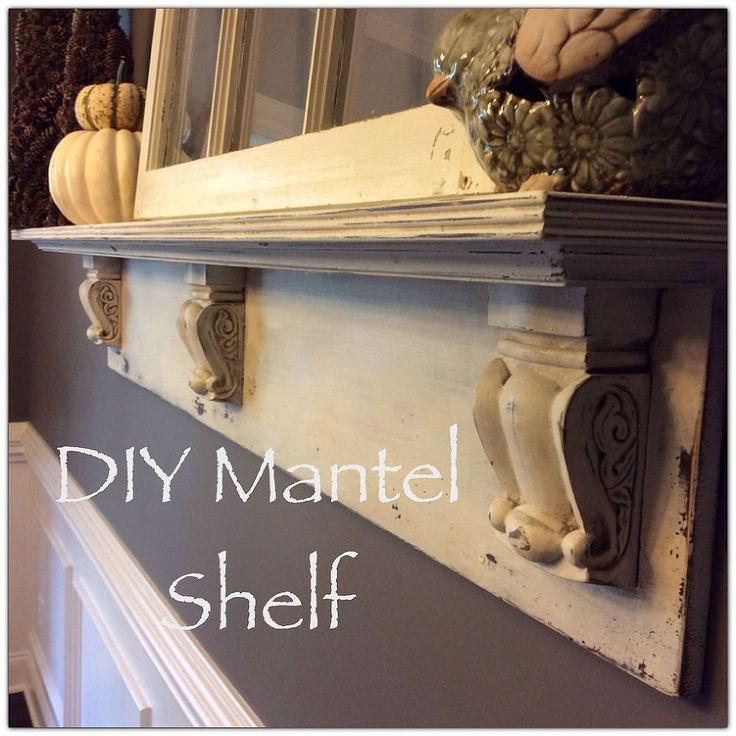 DIY Mantel Shelf - Another item checked off our dining room to-do list!!  We had a big, barren wall in our dining room that was screaming for something awesome!…
