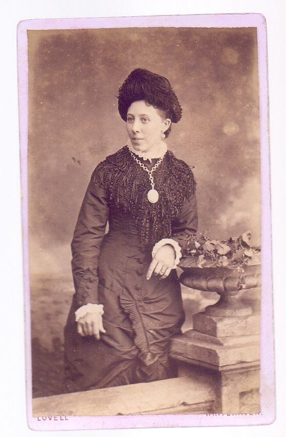 "4"" X 2.5 CDV,Young Lady Great Outfit,photo.A.J.Lovell Whitehaven  (CDV3)  
