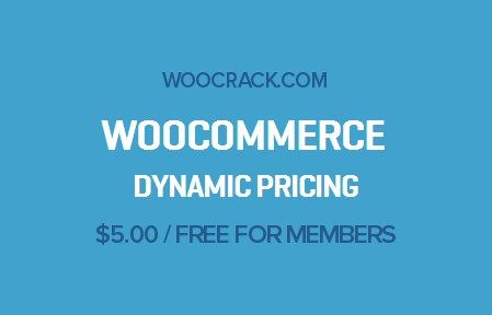 WooCommerce Dynamic Pricing 2.11.5, Woocrack.com – WooCommerce Dynamic Pricing is a WooCommerce Extensionsdeveloped by Woothemes. WooCommerce Dynamic Pricing allows create four diferrent typ