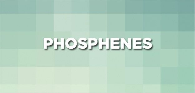 Those little lights you see when you wipe your eyes a little too hard are called phosphenes.