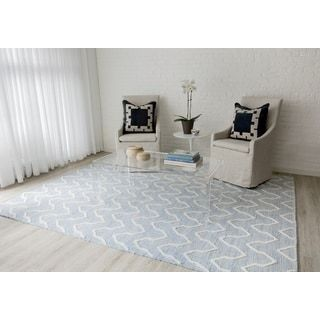 Shop for Erin Gates by Momeni Langdon Prince Blue Hand Woven Wool Area Rug 3'9 X 5'9. Get free shipping at Overstock.com - Your Online Home Decor Outlet Store! Get 5% in rewards with Club O! - 26359127