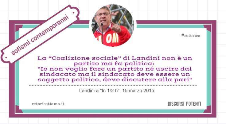 Landini fonda la coalizione sociale. Un nuovo soggetto che non è un partito ma fa politica. #retorica http://discorsipotenti.blogspot.it/ http://www.retoricatiamo.it/