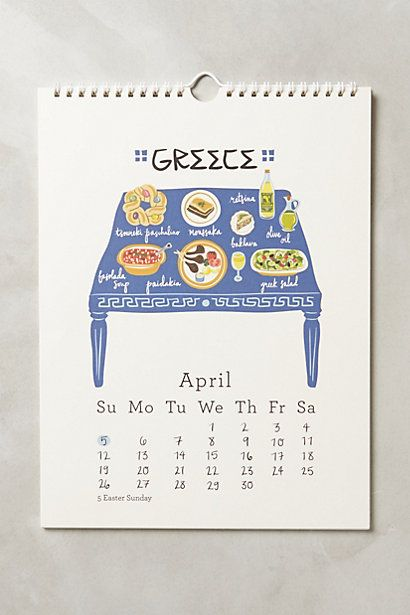 Twelve Tables 2015 Calendar - anthropologie.com