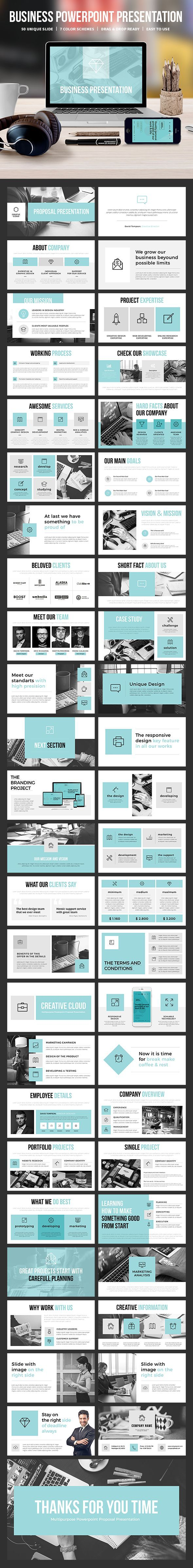 #Business #Powerpoint #Template - Business PowerPoint Templates Download here: https://graphicriver.net/item/business-powerpoint-template/18824707?ref=alena994