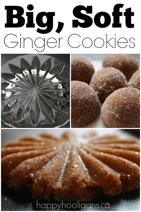 Big Soft Ginger Cookies - Happy Hooligans