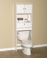 Zenith Bathroom Esaver Cabinet Over Toilet Bath Storage Shelf White