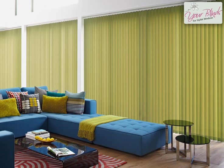 Vertical Blinds are great in classic and bold colours.