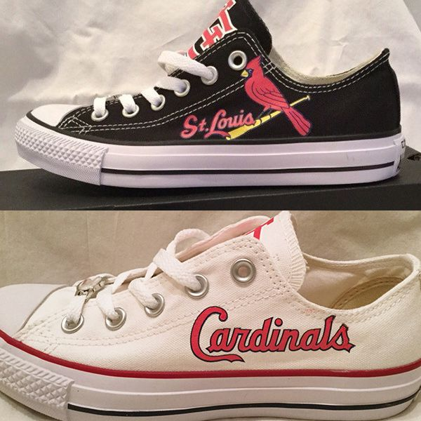 St. Louis Cardinals Converse Style Shoes - http://cutesportsfan.com/st-louis-cardinals-designed-sneakers/