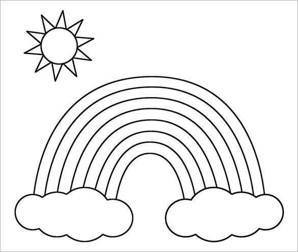 8 Rainbow Templates Free Pdf Documents Download Free Premium Templates Coloring Pictures For Kids Preschool Coloring Pages Kids Printable Coloring Pages