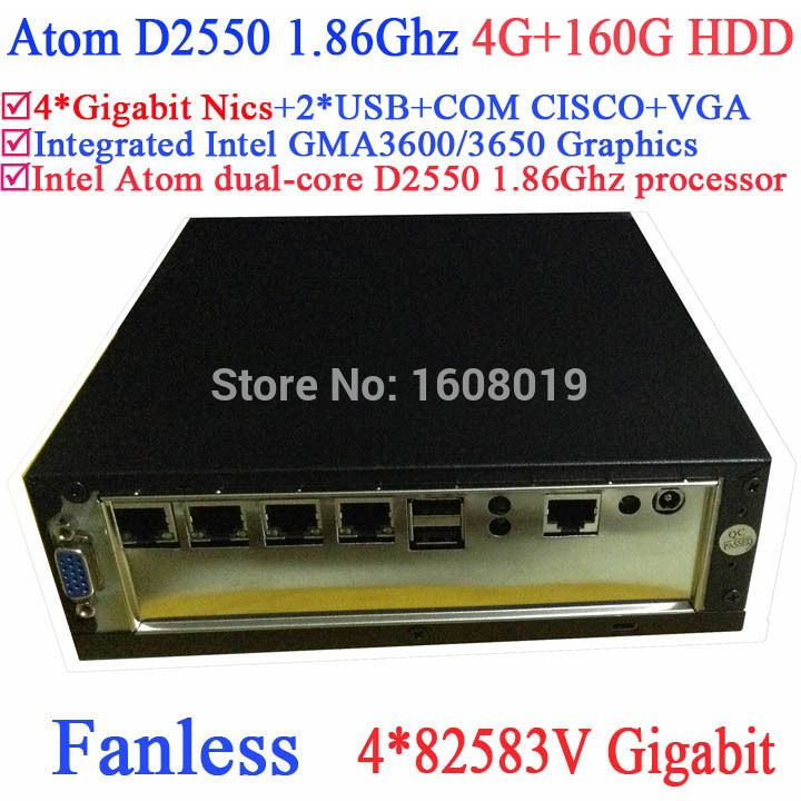 Elegant Thin Client Server with Intel Atom Dual Core D Ghz V Gigabit Nics