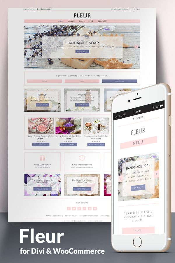 Fleur Child Theme for Divi & WooCommerce