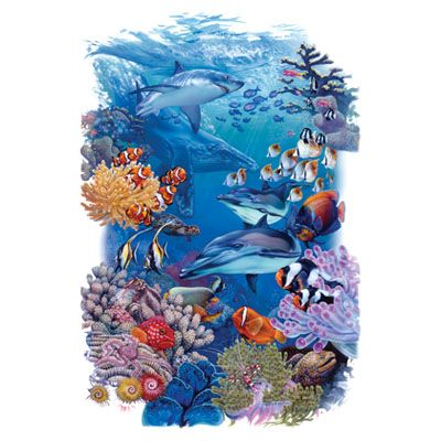 Coral Reef Undersea World - Garden Flag -