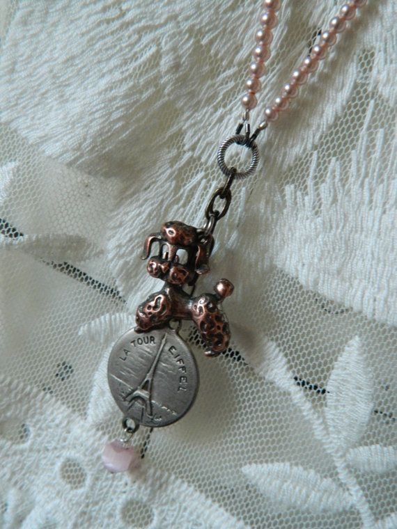 Assemblage Necklace by 58diamond Pink Poodle and by 58Diamond