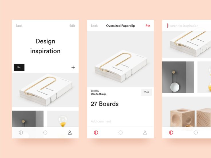 iOS Pinterest Rework by Viktor Hofte
