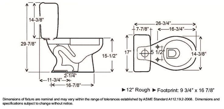 Toilet Dimensions Google Search Dimensions Bathroom