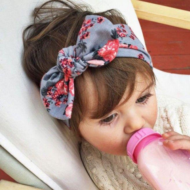 1 pieces Cute Newborn Baby Cool Girls Printing Knot Elasticity Headband Cotton Children Girls Baby Hair Accessories