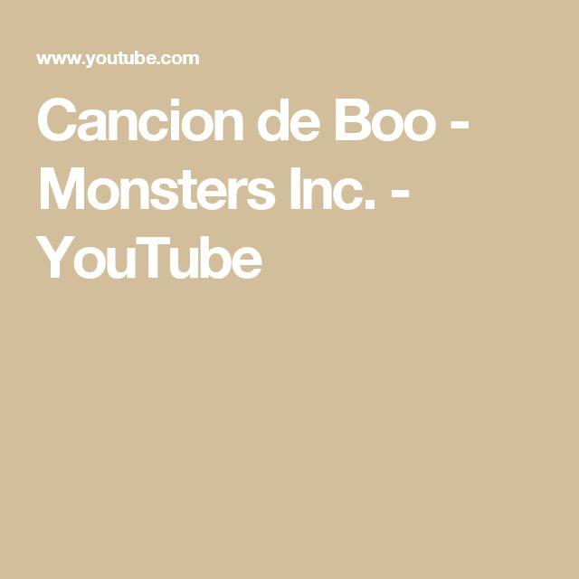 Cancion de Boo - Monsters Inc. - YouTube